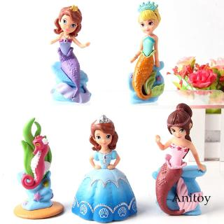 5pcs/set Princess Sofia the First Action Figure Collectible Model Girls Toys
