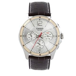 Đồng hồ nam CASIO chính hãng MTP-1374L, dây da