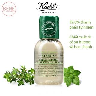 Kiehl's Nước tẩy trang Chiết Xuất Thảo Mộc Herbal-Infused Micellar Cleansing Water Kiehls 40ml Bill Mỹ