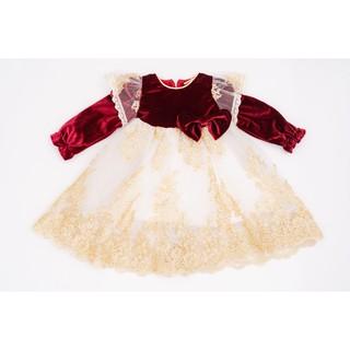 Váy Nhung Công Chúa Cho Bé Gái Crown Space Cao Cấp CKGL6810204 Size 14 - 25Kg