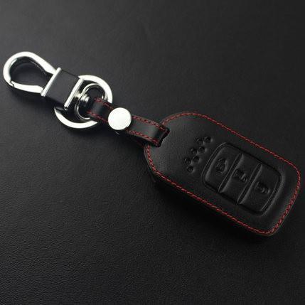HONDA, bao da chìa khóa đen chỉ đỏ xe HONDA CITY, HONDA CRV 2018
