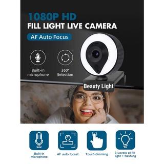 WebCam có Mic,tích hợp đèn trợ sáng độ phân giải 1080P 2K thumbnail