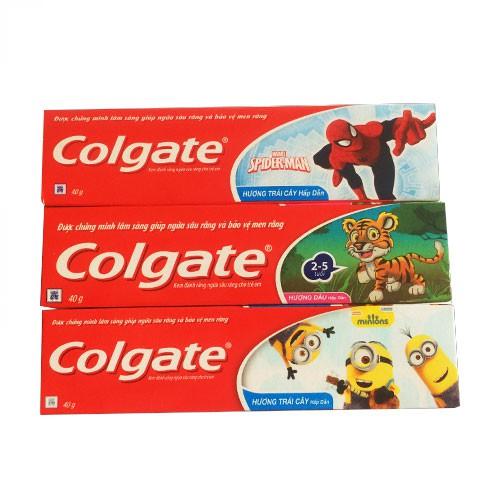 Kem đánh răng ngừa sâu răng cho trẻ em Colgate hương trái cây 40g
