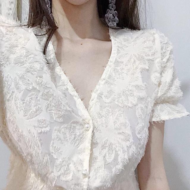 Váy midi dài lông vũ