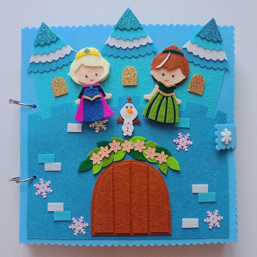 Sách vải Frozen – Nữ hoàng băng giá Elsa & Ana (Hình thật 100%) sản phẩm sách vải cho be gái – Tulip Store Handmade