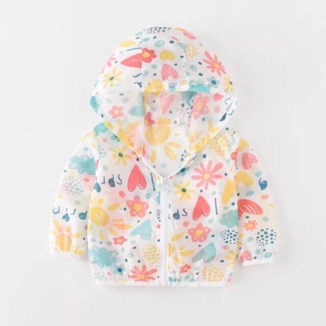 Áo chống nắng họa tiết hoa spring MS21 cho bé trai/gái