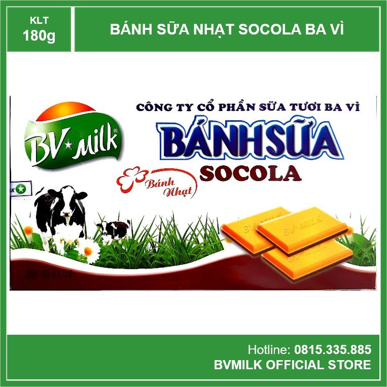 Bánh Sữa Socola Ba Vì 180g - BVMILK