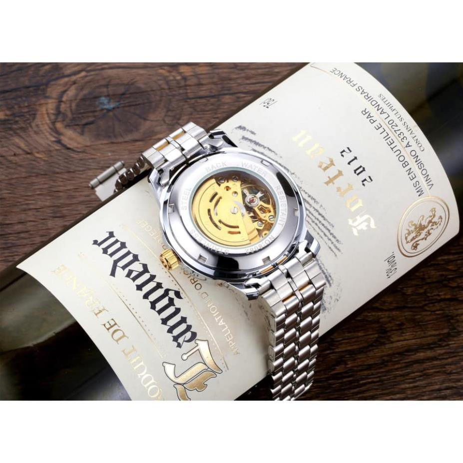 FREESHIP Đồng hồ cơ nam byino automatic quý tộc dây thép không gỉ cao cấp