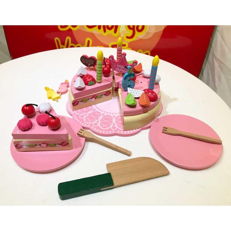 Bánh kem sinh nhật bằng gỗ | Đồ chơi nhập vai cực kì dễ thương cho bé