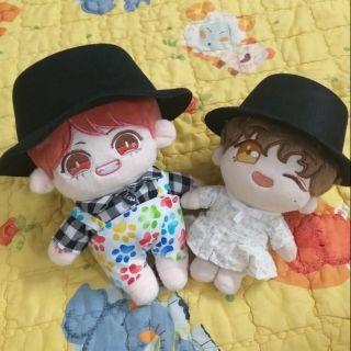 Nón đen cho doll 20 va 15cm ( hàng có sẵn)