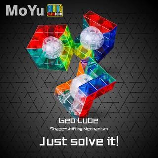 Rubik 3×3 – MoYu MoFangJiaoShi Transparent Geo Cube A/B/C