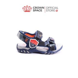 Dép Quai Hậu Bé Trai Đi Học Chính Hãng Crown Space UK Sandals Trẻ em Nam Cao Cấp CRUK533 Nhẹ Êm Size 26-35 2-14 Tuổi thumbnail