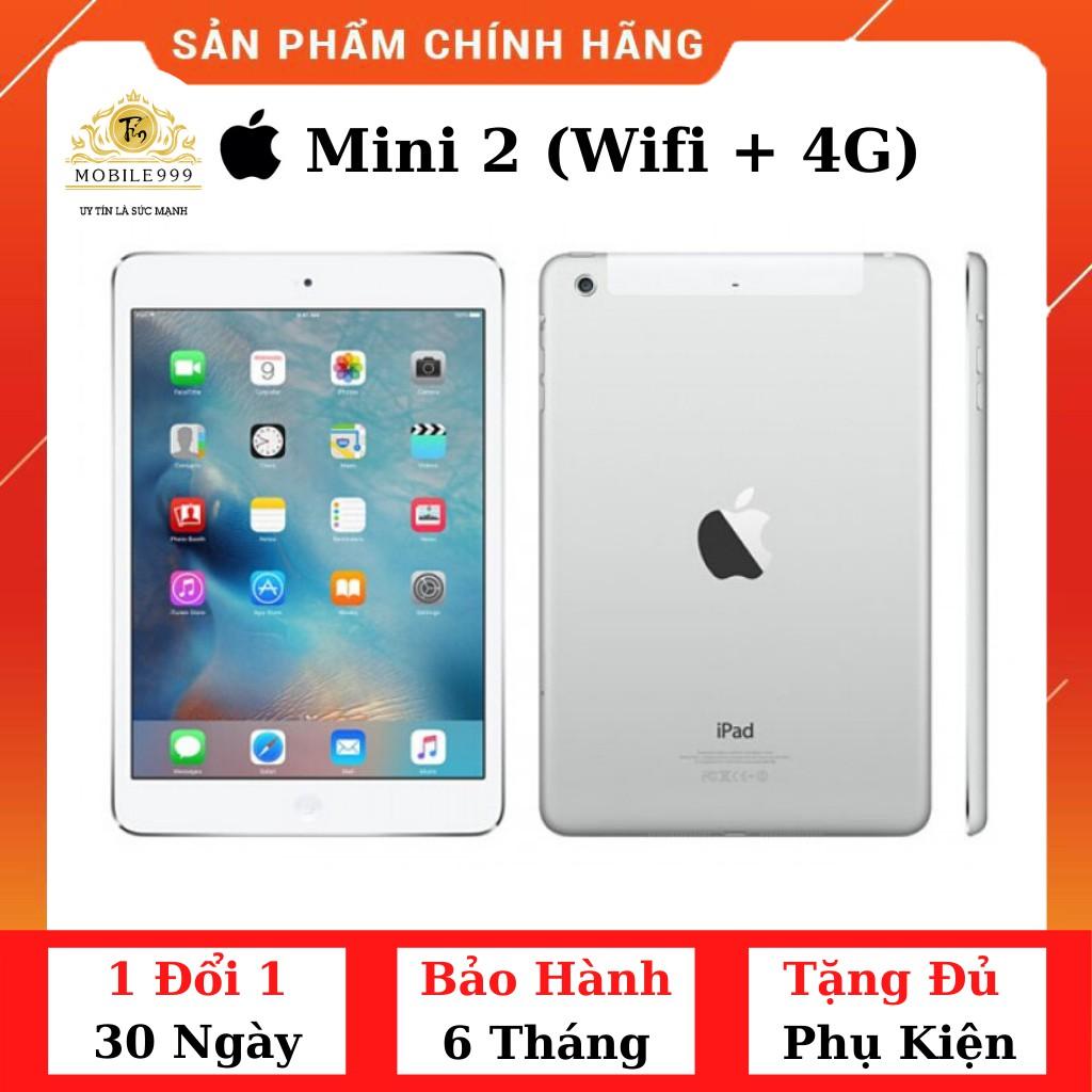 iPad Mini 2 (Wifi + 4G) 16G /32G /64G /128GB Chính Hãng - Zin Đẹp 99% Màn Retina siêu đẹp - Máy nhỏ gọn - MOBILE999