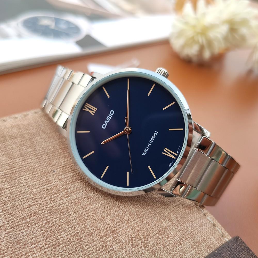 Đồng hồ Casio nam MTP-VT01D-2BUDF dây kim loại chính hãng