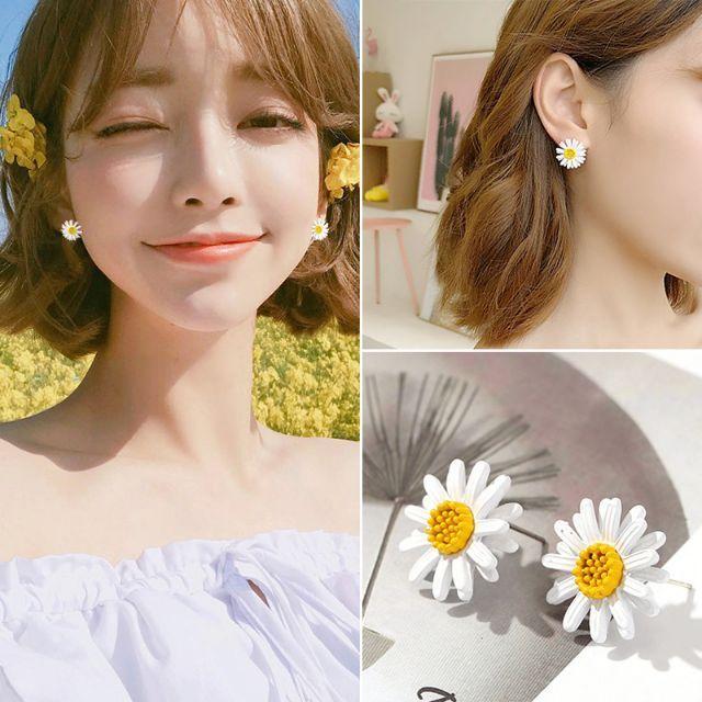 Bông tai hoa cúc hoạ mi xinh xinh cute