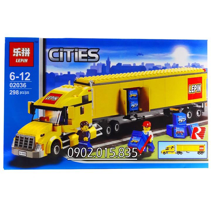 Bộ Lego Xếp Hình Ninjago City Siêu Xe Container No.02036. Gồm 298 chi tiết. Lego Ninjago Lắp Ráp Đồ Chơi Cho Bé.