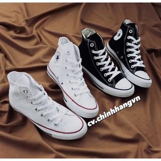 ( Hàng Real ) Giày Conversse Classic Cao Cổ Màu Trắng&Đen thumbnail