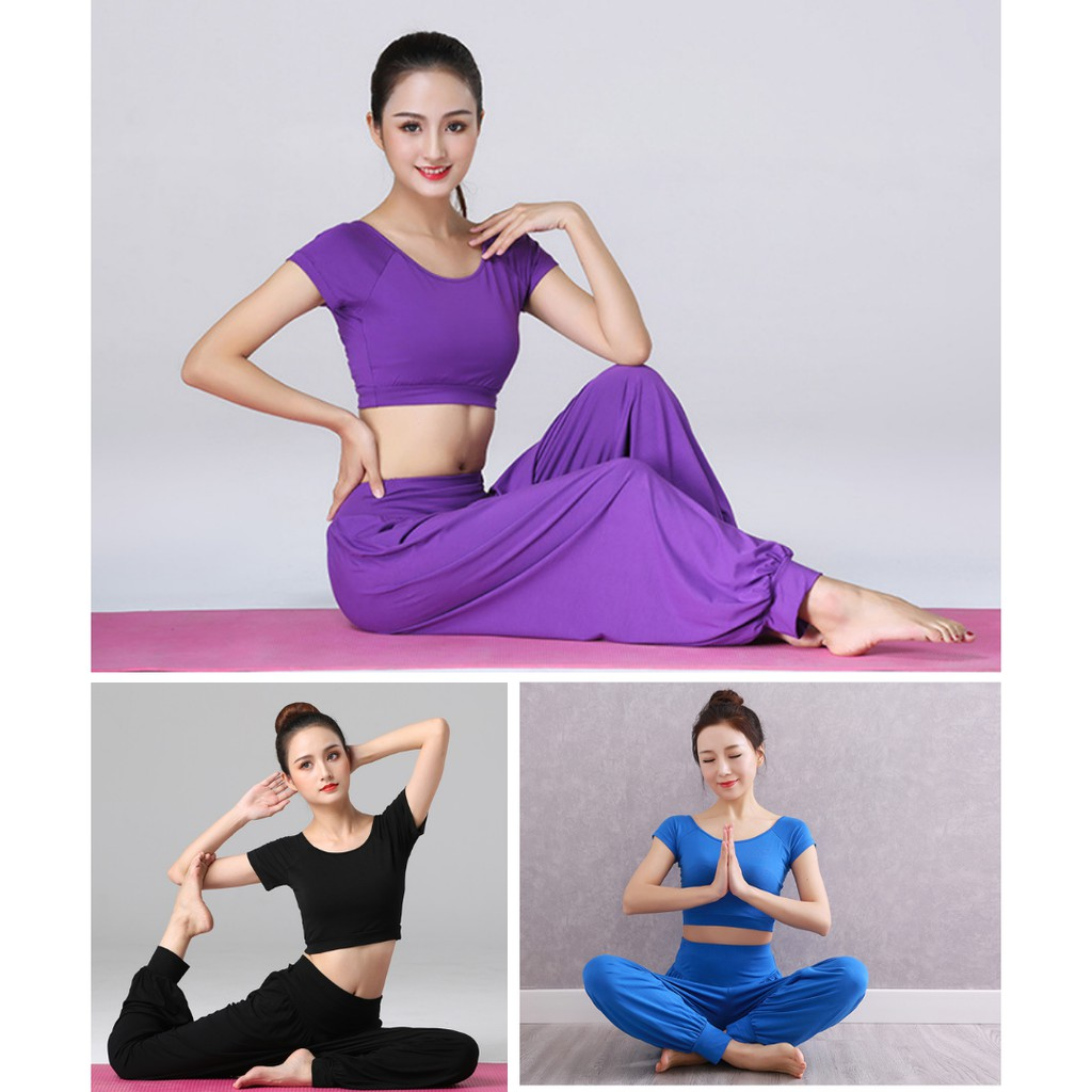Bộ Đồ Alibaba Tập Yoga, Tập Zumba, Tập Múa Chất Cotton, Siêu Co 4 Giãn 4 Chiều