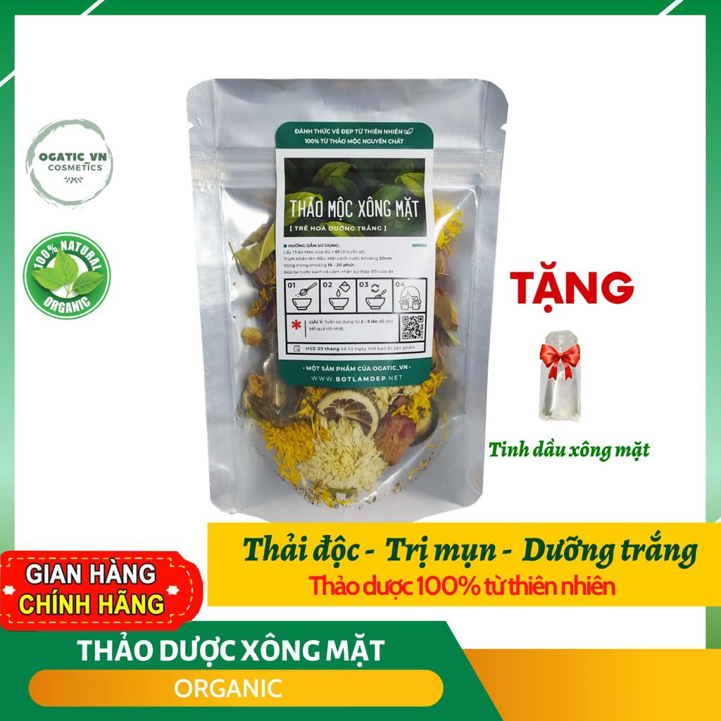 Thảo dược xông mặt thải độc, nguyên chất 100% Organic (tặng kèm lọ tinh dầu) B1.009