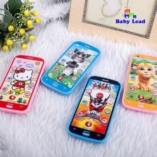 Điện thoại đồ chơi hoạt hình BabyLead Điện thoại mèo Tôm biết nói chất liệu nhựa cao cấp cho bé vừa học vừa chơi