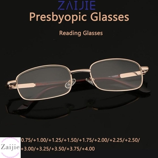 💜ZAIJIE💜 Unisex Presbyopic Glasses Portable Eyeglasses Reading Glasses Vision Care High-definition Metal Eyewear PC Frames