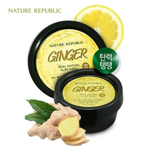 Mặt Nạ Căng Mịn Da Nature Republic Ginger Real Nature Clay Mask