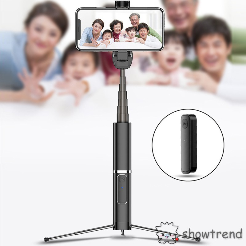 Selfie Stick Tripod Mount Phone Holder Bluetooth Wireless Shutter Rotation Extendable