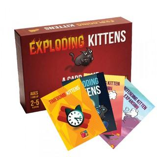Bài Mèo Nổ Exploding Kittens – Combo Mèo nổ + 4 Bản mở rộng Cao Cấp – EtoysVN – Đồ chơi Board Game