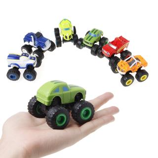YOUN* 6Pcs Blaze Vehicles Racer Cars Trucks Gifts For Kids Toys Toys Machines