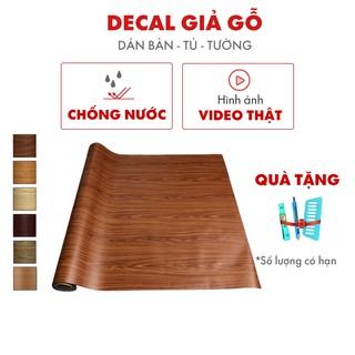 Giấy dán tủ gỗ bàn học chống nước dễ dàng lau chùi khổ 1.2m thumbnail