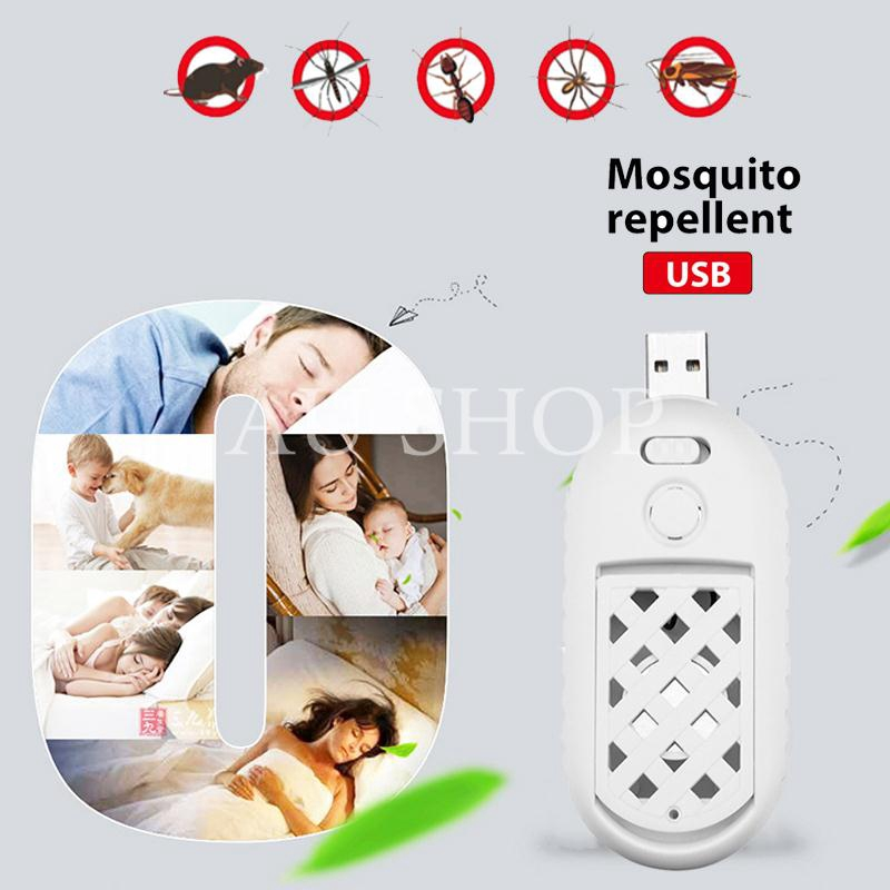 AUshop Portable USB Mosquito Killer Ultrasonic Speaker Mosquito-Flavor Heater Bug White Giá chỉ 75.284₫