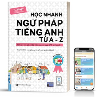 Sách - Học Nhanh Ngữ Pháp Tiếng Anh Từ A - Z Dành Cho Người Mới Bắt Đầu - Kèm App Học Online