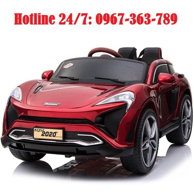 Ô tô xe điện đồ chơi vận động KUPAI 2020 cho bé 2 chỗ 4 động cơ (Đỏ-Cam-Trắng)