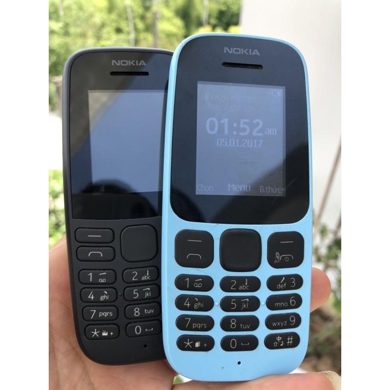 Điện thoại Nokia 105 Dual SIM (2 sim) và 1 sim - Hàng Chính hãng máy cũ đã bao gồm bin + sạc