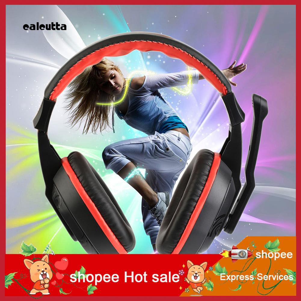 Cal Fashion Gaming Music Headset Stereo Earphone Wired Computer Headphone with Mic