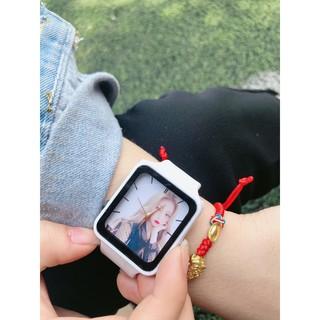 Đồng hồ thời trang nam nữ in hình theo yêu cầu phong cách Hàn TT116 dây silicon