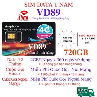 SIM 4G - VD89 1Năm ( DATA + Gọi MIỄN PHÍ +CẢ NĂM ) 2GB/Ngày Không Cần Nạp Tiền - Nhiều gói lựa chọn - Bảo Hành 12 Tháng