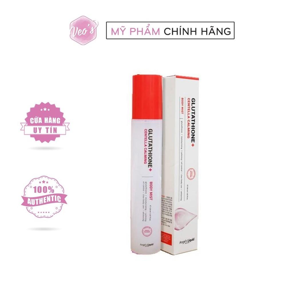 Xịt giảm mụn lưng Angel's Liquid Glutathione+ Centella Calming 150ml