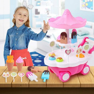 Bettertogether:Girl Candy Ice-cream Truck Light Music Soft Educational Toys