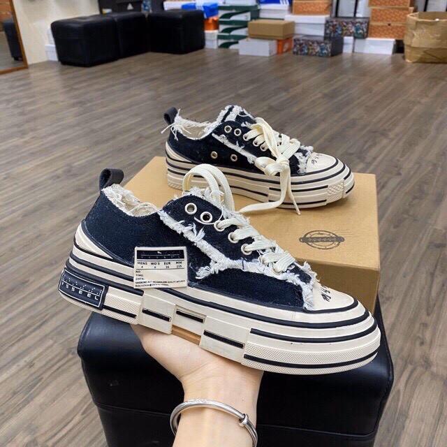 Giày sneaker style rách cao 3,5-4cm HOT NHẤT 2020 [ bản đế gỗ