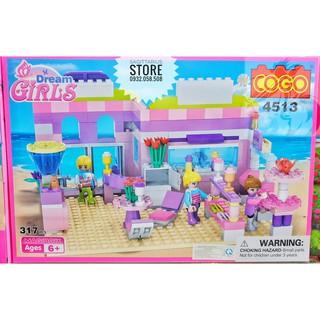 Lego Friend Cogo-4513 Lă p Ra p Tiê m Kem Tươi ( 317 Ma nh )