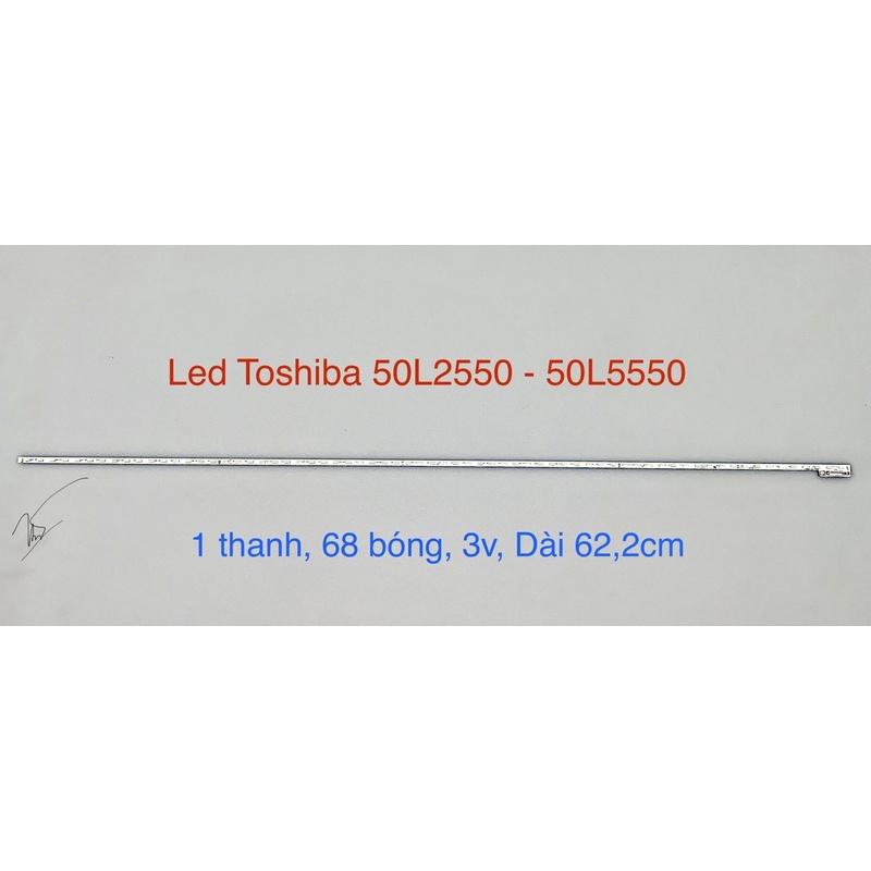 [Mới] Led Viền Tivi Toshiba 50 L2550 - L5550 Sẵn Keo (1 Thanh)