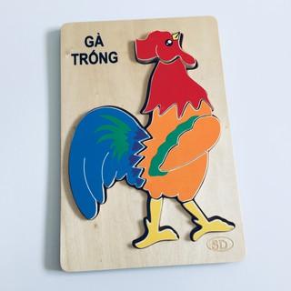 Đồ chơi gỗ ghép hình Con gà trống