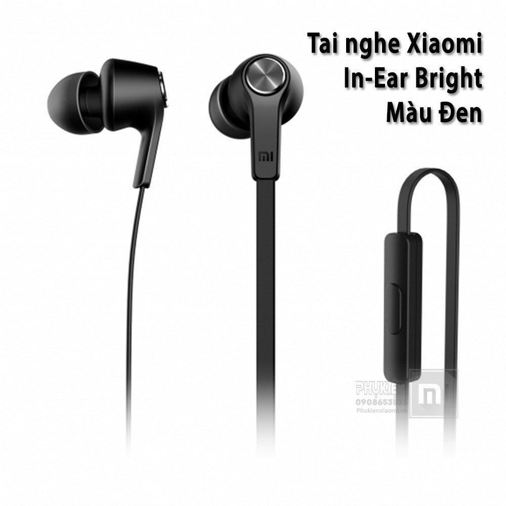 Tai nghe Xiaomi Piston lite 2017 tròn (đen)