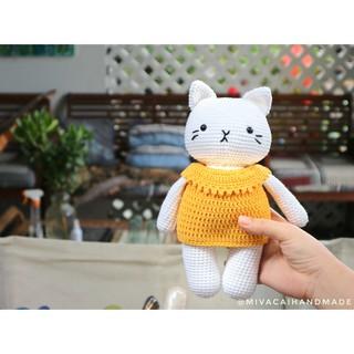 Thú bông len: Mèo bánh bao