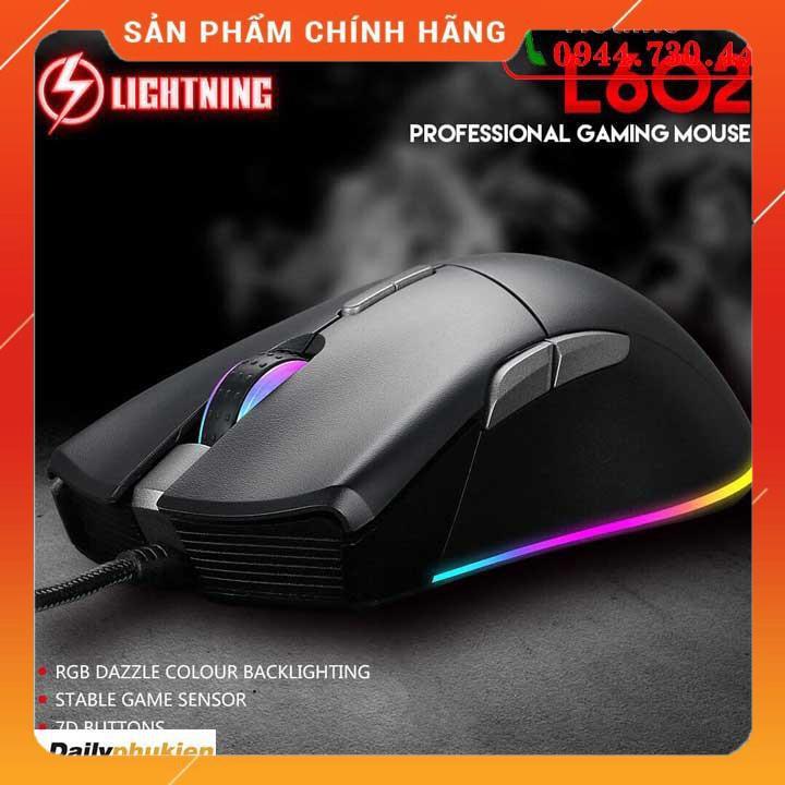 [Mã SKAMPUSHA7 giảm 8% đơn 250k]Chuột Game Lightning L602 5000dpi BH 18 tháng dailyphukien