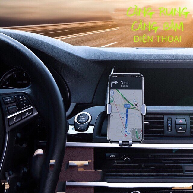 Giá đỡ,kẹp điện thoại trên ô tô,xe hơi gắn qua khe gió