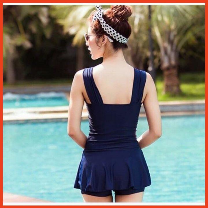 Mặc gì đẹp: Đằm thắm với Áo Tắm Nữ 1 Mảnh Duyên Dáng Kín Đáo (Có Quần Bên Trong Váy) Bikini House Liền Thân Cao Cấp