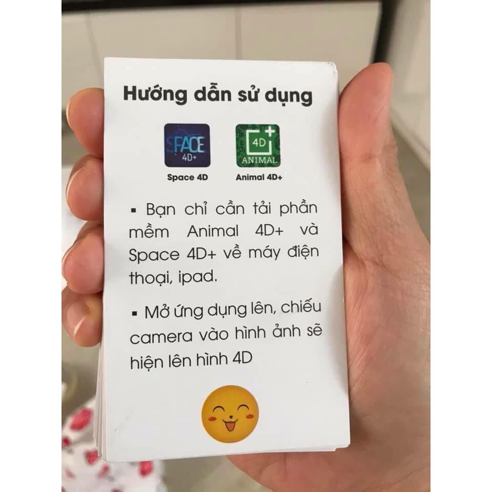 Set 60 thẻ học ngoại ngữ 4D công nghệ 4.0 - Hàng nhập khẩu