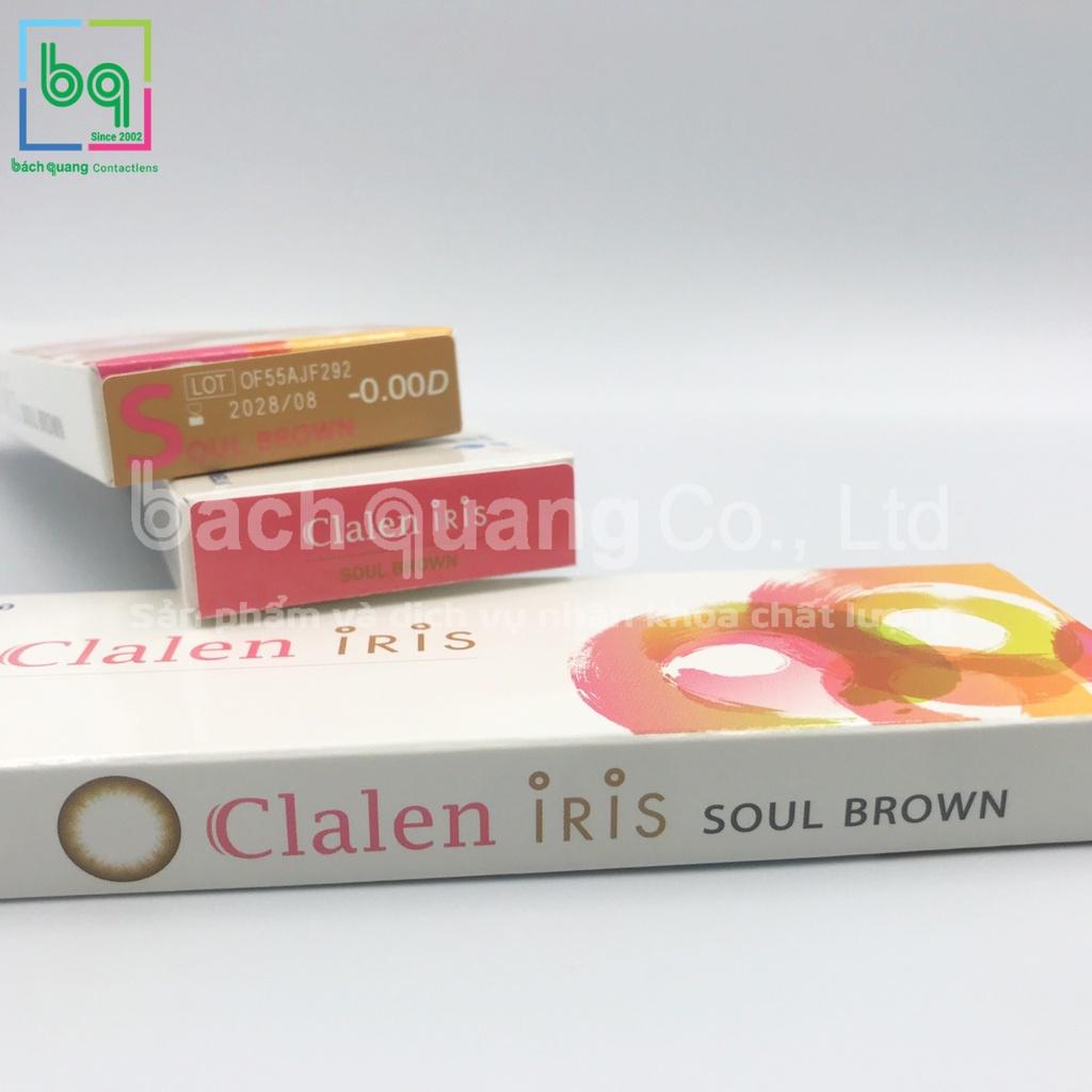 [5 cặp] Kính áp tròng màu SOUL BROWN Hàn Quốc dùng 1 ngày Clalen Iris